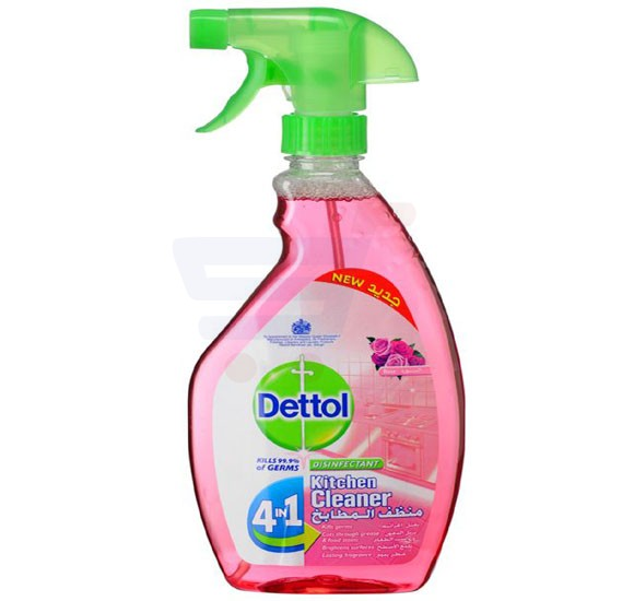 Dettol Healthy Kitchen Power Cleaner Rose Trigger Spray, 500ml