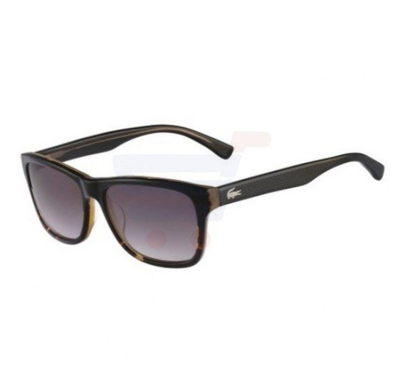 Lacoste Rectangular Black Havana Frame & Grey Gradient Mirrored Sunglasses For Unisex - L709S-001