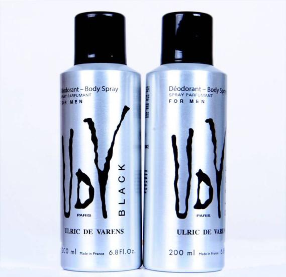 UDV Black Deodorant Spray - For Men  (200 Ml, Pack Of 2),UDV-3582