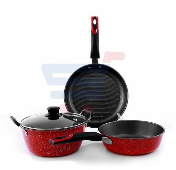 Epsilon 4Pcs Nonstick Cookware Set-EN3672