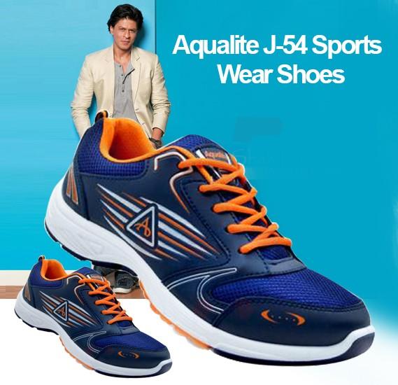 Aqualite J-54 Sports Wear Shoes For Men Size UK-8 Navy Blue/Orange