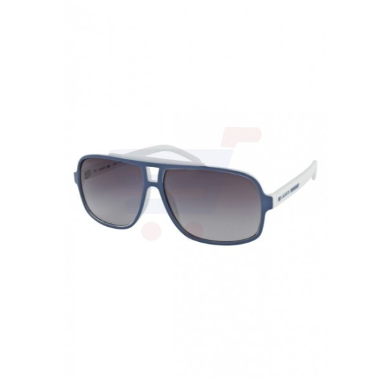 Lacoste Aviator White / Blue Frame & Grey Fade Mirrored Sunglasses For Men - L639S-516