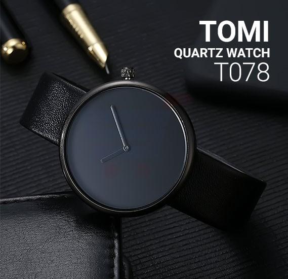 Tomi Analog Quartz Unisex Watches TO78, Black