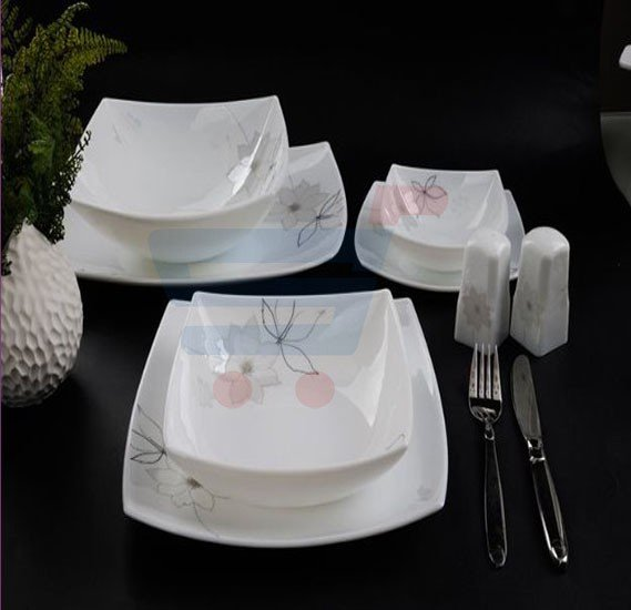 RoyalFord 57 PIeces Hard Square Dinner Set - RF6962