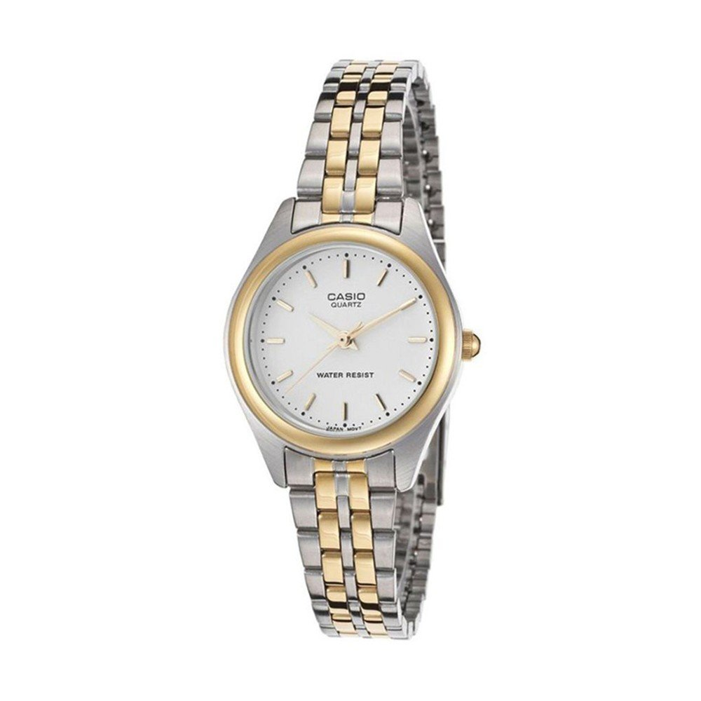 Casio Enticer Analog White Dial Womens Watch, LTP-1129G-7ARDF