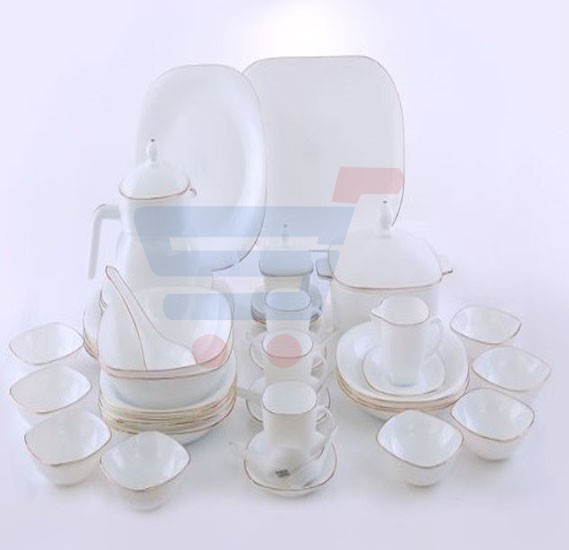 RoyalFord 96 Pieces Square Dinner Set - RF6809
