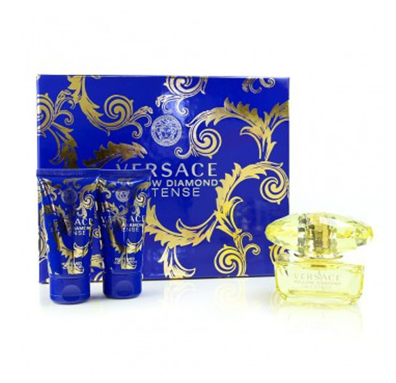 Versace Yellow Diamond Intense Set EDP Spray 50ml, Perfumed Bath & Shower Gel 50ml and Perfumed Body Lotion 50ml