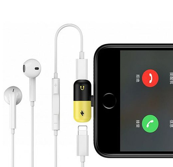 best service 3777e 94030 Mini Capsule 2 IN 1 Portable Lightning Adapter With Charge and Listen Music  Same Time for iphone 7 8 7 plus 8 plus iphone X iphone XS iphone XS max ...