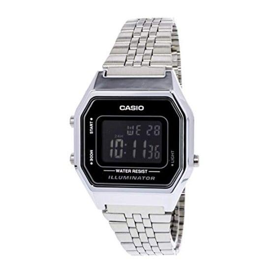 Casio LA-680WA-1BDF Ladies Mid-Size Silver Digital Retro Watch
