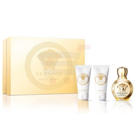 Versace Eros Femme EDP Plus Perfumed Bath And Shower Gel With Perfumed Body Lotion 50ml For Women