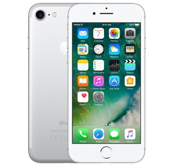 Apple iPhone 7 Smartphone, iOS10, 4.7 Inch Retina HD Display, 2GB RAM, 128 GB Storage, Dual Camera,Wifi (with Facetime) - Silver