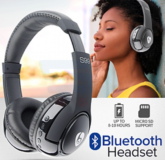 S99 Wireless Bluetooth Stereo Headset With Micro SD Slot