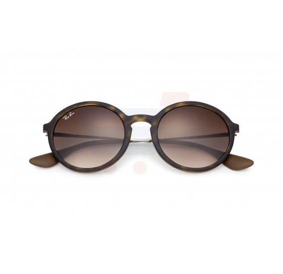 d319eacc52a37 Ray-Ban Round Brown Frame   Brown Gradient Mirrored Sunglasses For Women -  RB4222-