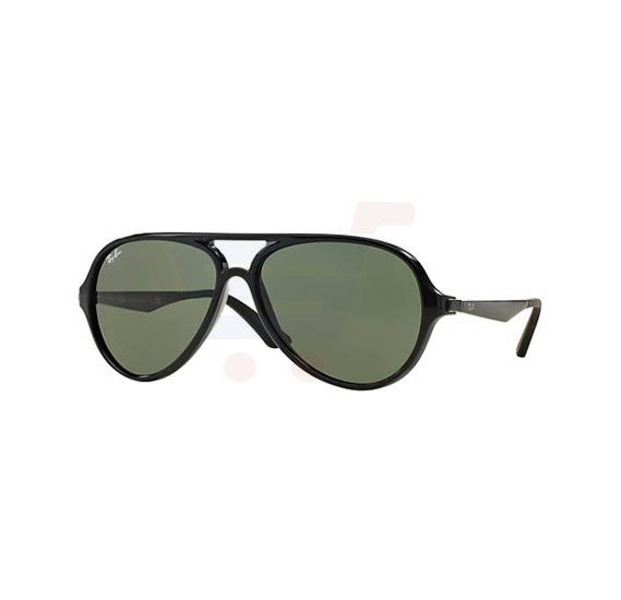 Ray-Ban Pilot Black Frame & Classic Green Mirrored Sunglasses For Women - RB4235-601-57