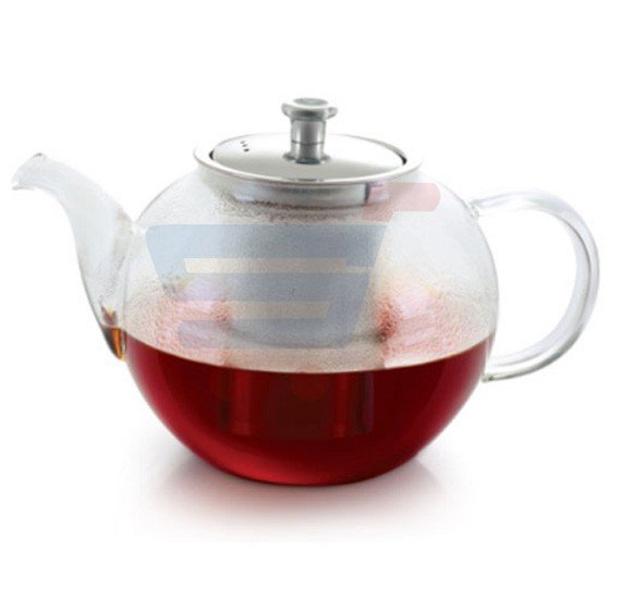 Royalford Glass Tea Pot With Stainless Steel Strainer 650ML - RF8265