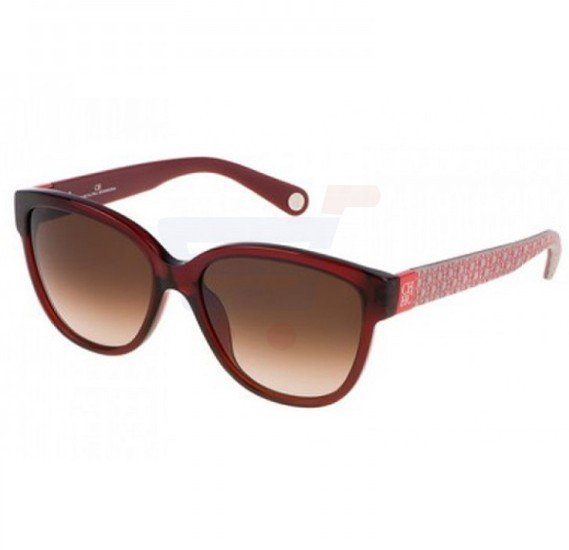 Carolina Herrera Wayfarer Red Frame & Brown Gradient Mirrored Sunglasses For Women - SHE644-06DC