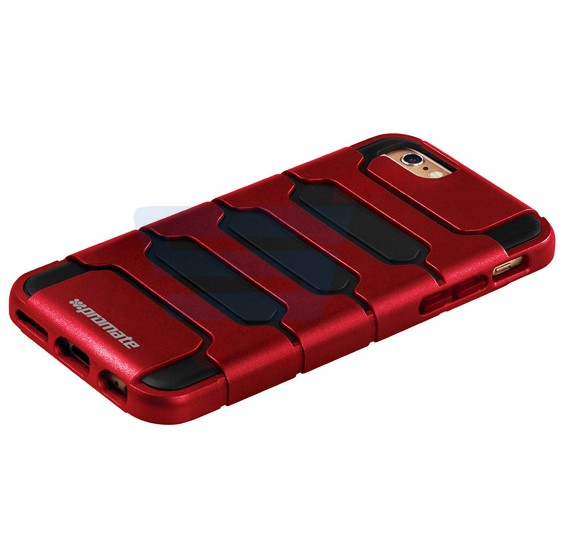 Promate Ammo i6P iPhone Case, Tough Shell Protective Combo Case for Apple iPhone 6/6S Plus, Maroon
