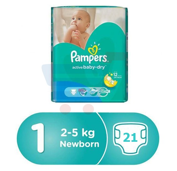 Pampers Main Line Carry Pack Newborn (1x21Pcs), CP-21 Count