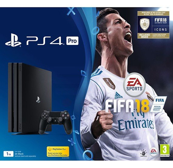 Sony Playstation 4 Pro 1TB Console FIFA 18 Bundle