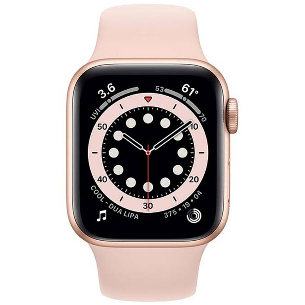 Apple Watch Series 6-44 mm GPS Gold Aluminium Case with Pink Sand Sport Band