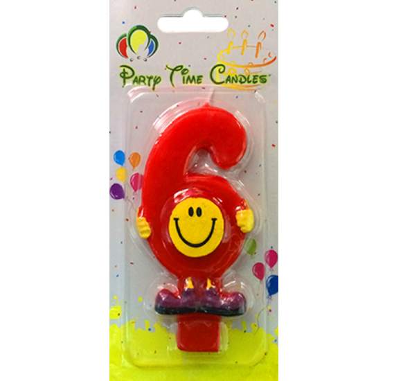 Party Time Smiley Candle 6 M082