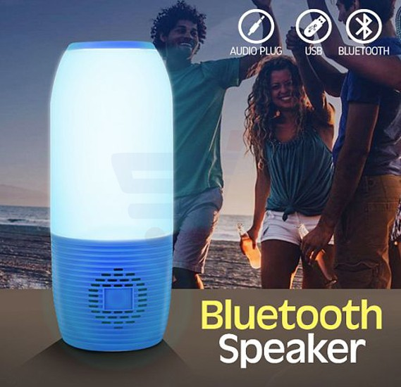 Pulsation 3 Bluetooth Light Speaker With  USB Flash Disk & Modulation Supports Audio Plug