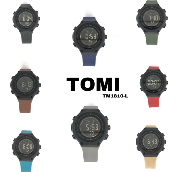 Tomi TM1810 Digital Multi-Function Sports Watch for ladies (Assorted)