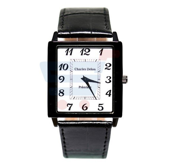 Charles Delon Gents Watch Leather Band - 4913GD5