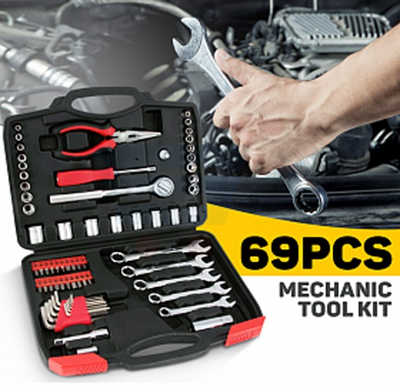 69 Pcs Mechanic Toolkit