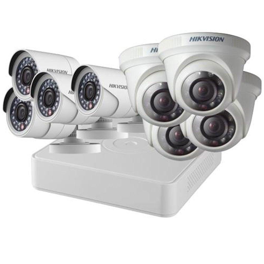 Hikvision 4 Dome & 4 bullet Camera DS-J142I/7108HQHI-K1+4+4CAM 2MP Kit With Hard Disk
