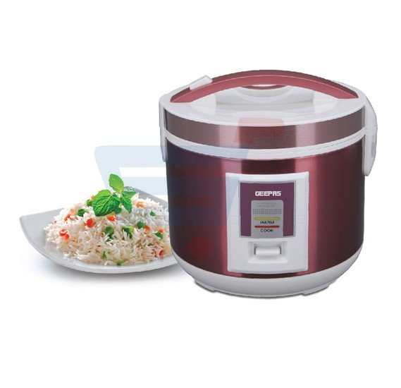 Geepas Stainless Steel Rice Cooker 1.5 Litre, GRC4328