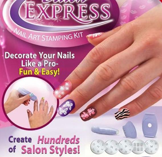 Buy Professional Nail Art Stamp Stamping Polish Nail Kit Online ...