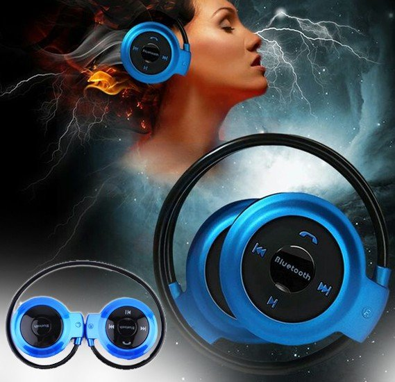 Mini 503 TF Wireless Sports  Bluetooth Foldable Stereo Headset with FM , TF card mp3 play handsfree calls for all mobiles