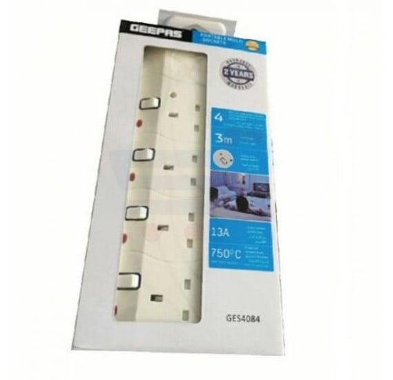 Geepas Portable Multi Socket - GES4084