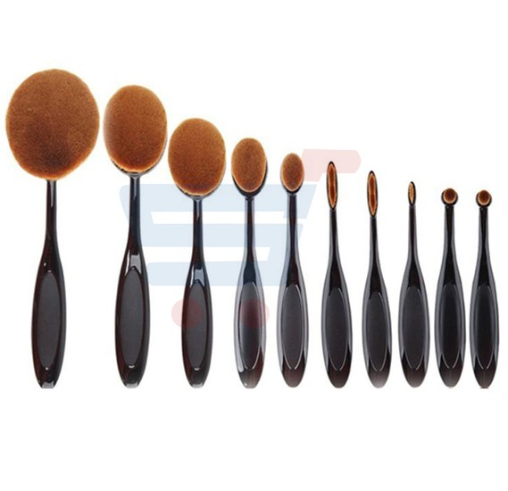 Make Up For You 10pcs Set Professional Foundation Brush - Black