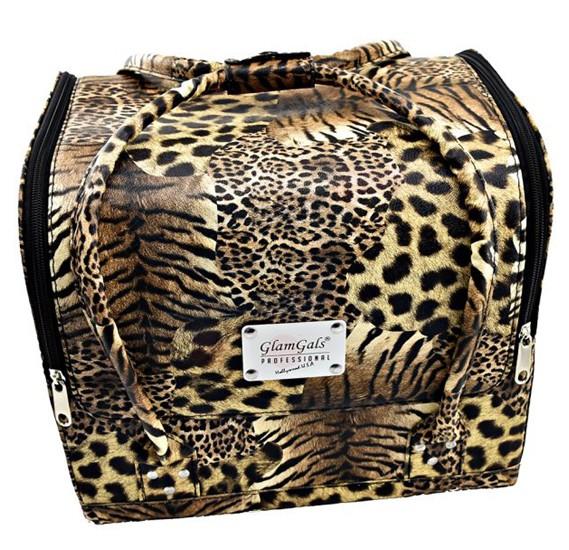 GlamGals Makeup Tiger Print Bag - MB06