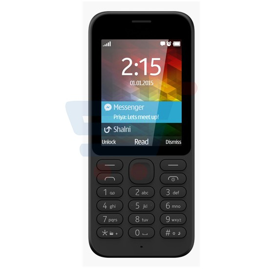 U2 215 Mobile Phone, 1.77 Inch QVGA Display, Dual Sim, Camera- Black