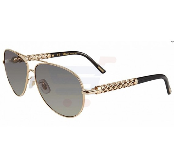 Chopard Aviator Rose Gold Frame & Rose Gold Mirrored Sunglass For Woman - SCHB66S-0A39