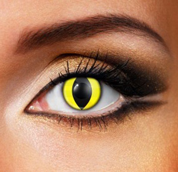 Yellow Cat Halloween Eye Contact Lense