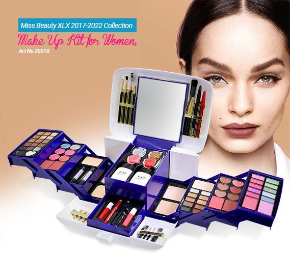 Miss Beauty XLX 2017-2022 Collection Make Up Kit for Women, Art No 2001X