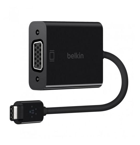 Belkin USB-C To VGA Adapter, Black, F2CU037BT-BK