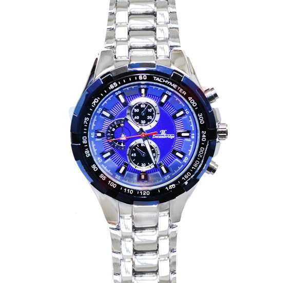 Decambridge Analog Watch For Men Silver Blue - 1008D