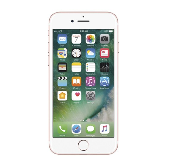 Apple iPhone 7 Smartphone,With FaceTime,iOS10, 4.7 Inch Retina HD Display, 2GB RAM, 32 GB Storage, Dual Camera,Wifi - Rose Gold
