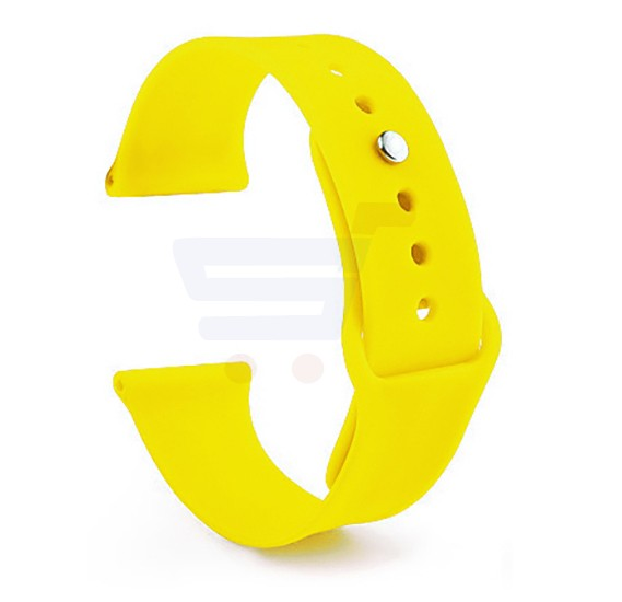 Silicone Sport Replacement Watch Band For Apple Watch 42MM Yellow