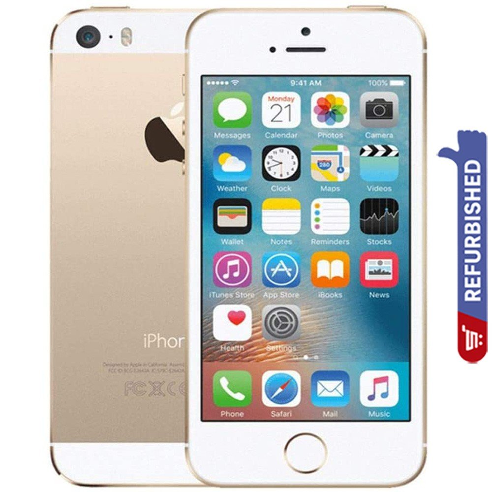 Apple iPhone 5S, 1GB RAM 16GB 4G LTE, Gold - Refurbished