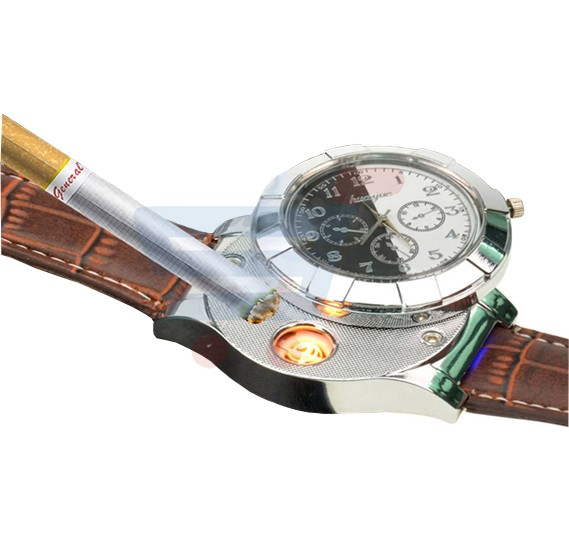 Brown Flameless Lighter Watch-EA-901