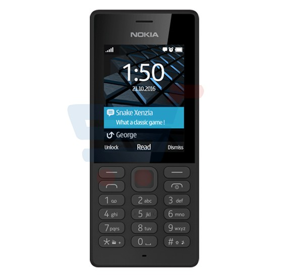 Nokia 150 Phone, 2.4 Inch TFT Display, Bluetooth, USB, Dual Sim FM Radio- Black