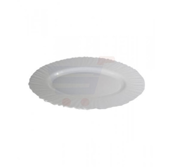 Flamingo Opal Ware Oval Plate  12 Inch - FL7308OW