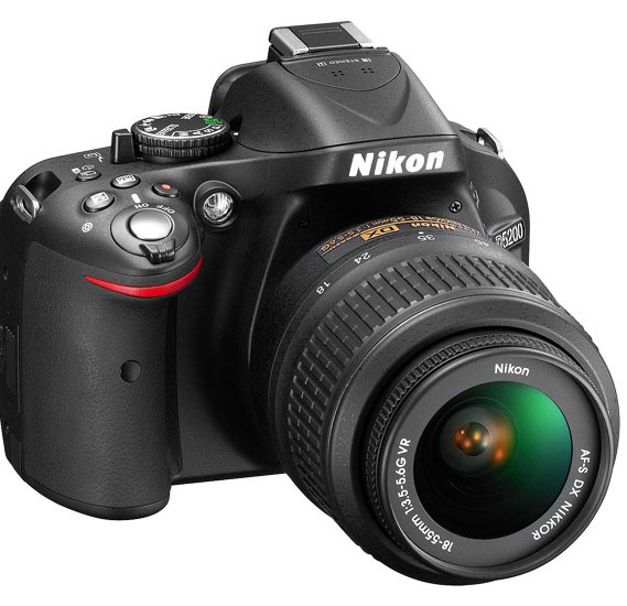 Nikon D5200 SLR Camera, 24.1.MP, 18-55mm VR Lens Kit, Black