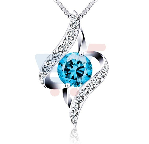 J.Rosee Swarovski Elements 925 Sterling Silver Necklace JR-681